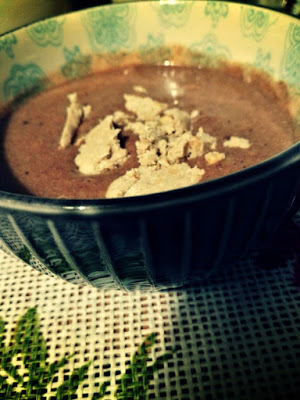 Gryczane śniadanie z chałwą i czekoladą