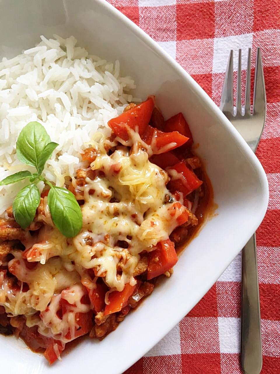 Wieprzowina w sosie pomidorowym