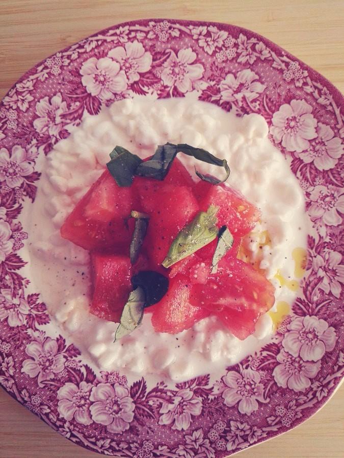 Śmietankowe pomidory