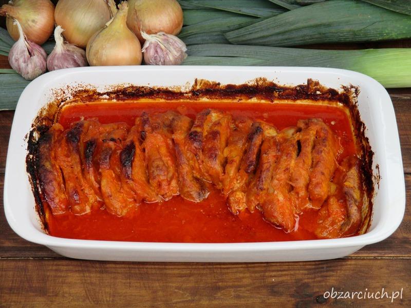 Schab pieczony w ketchupie i majonezie