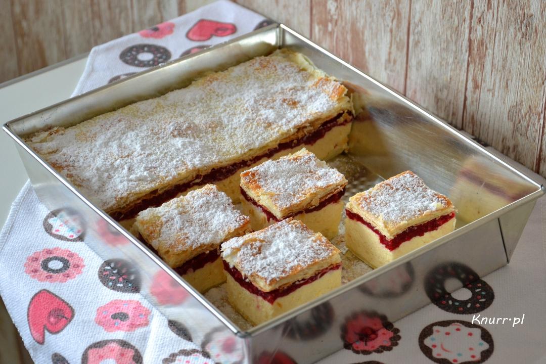 Ciasto Kremówka z malinami w 20 minut