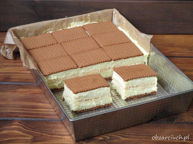 Ciasto Budyniowiec na herbatnikach