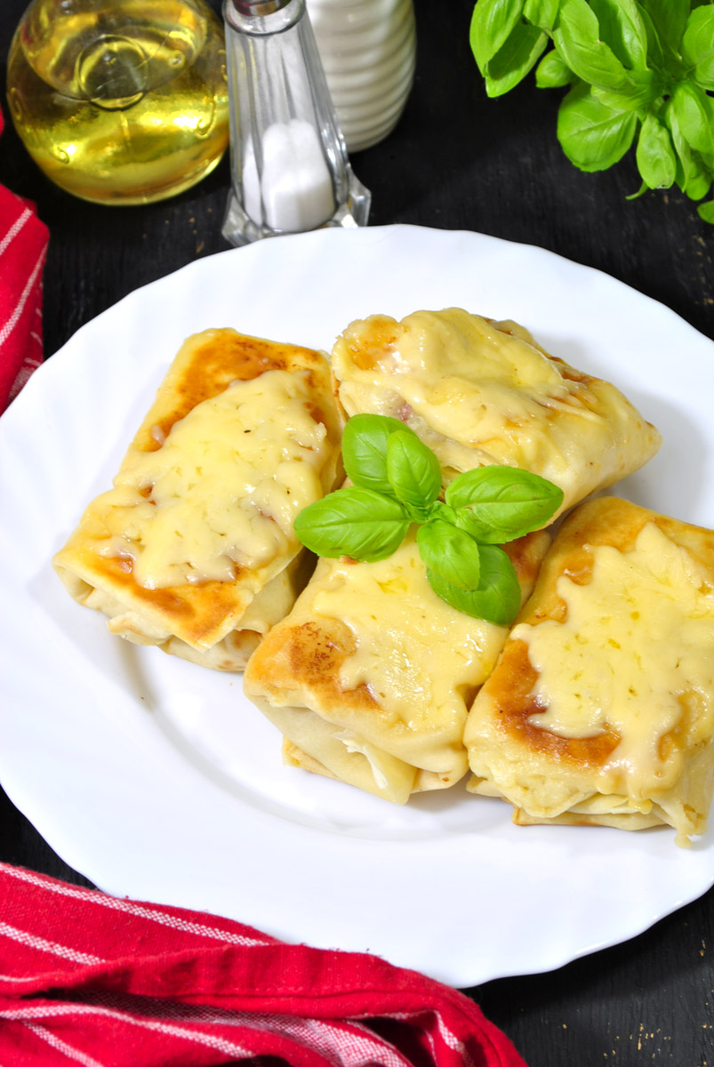 Naleśniki ruskie z serem żółtym