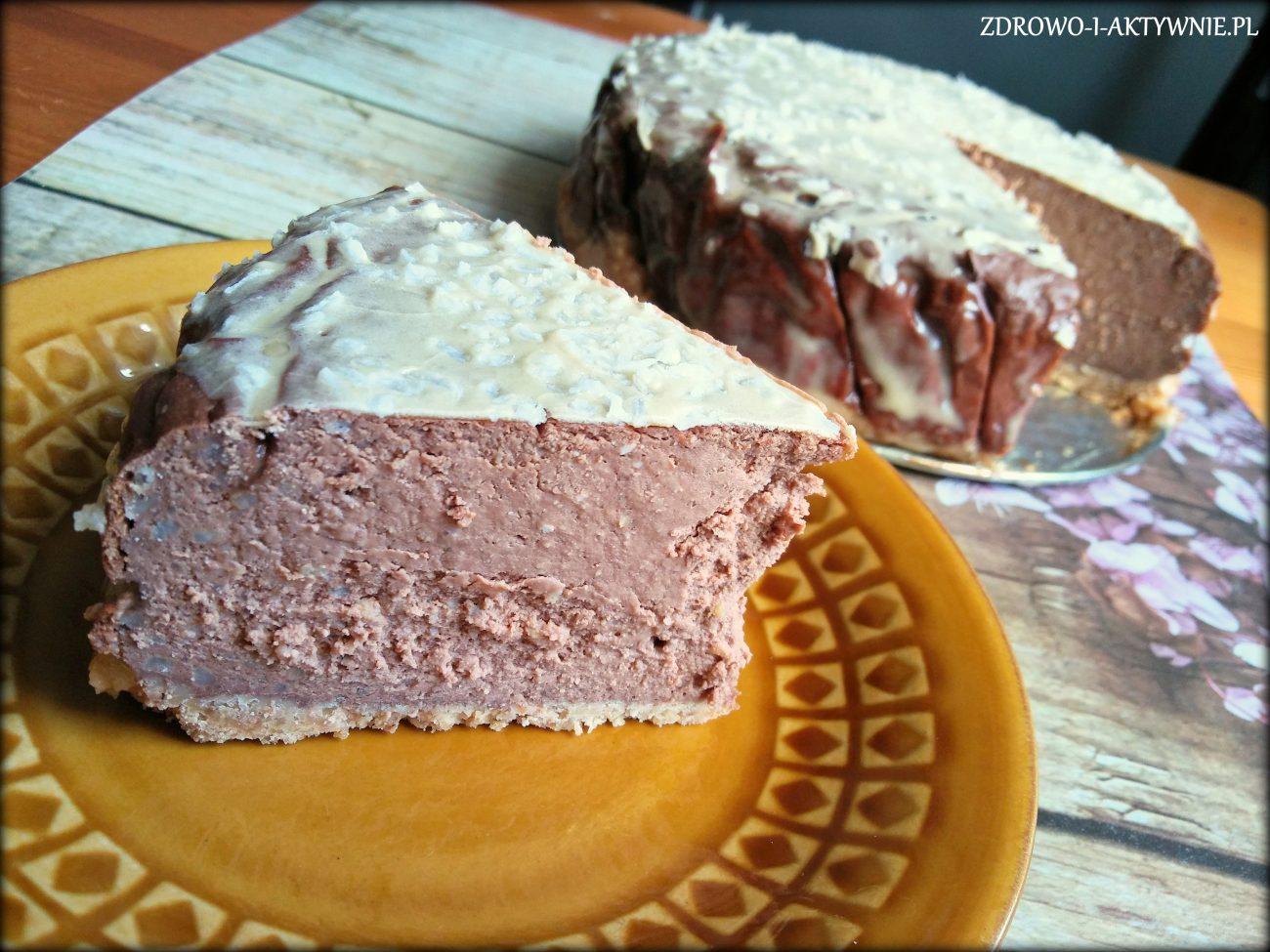 Sernik czekoladowy z kaszą jaglaną