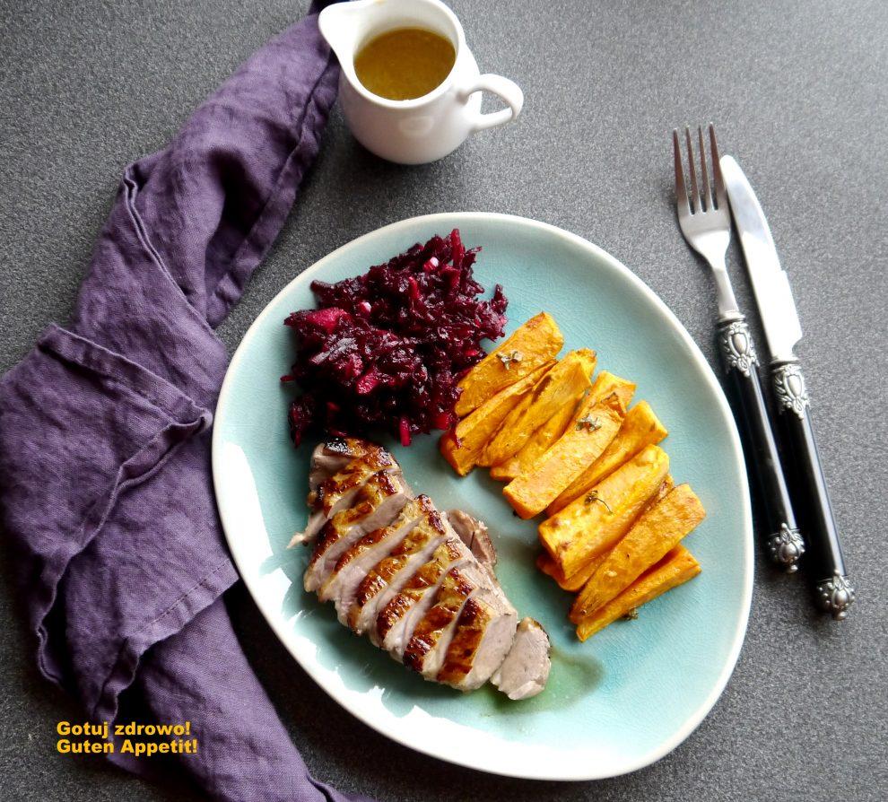 Filety z kaczki z pomarańczowym sosem
