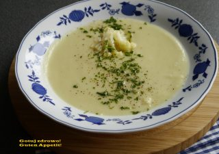 Zupa kalafiorowa z topinamburem wg Michaela Mosleya