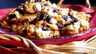 Ciasteczka z płatków migdałowych i żurawiny