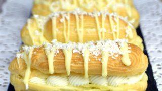 Eklerki kokosowe