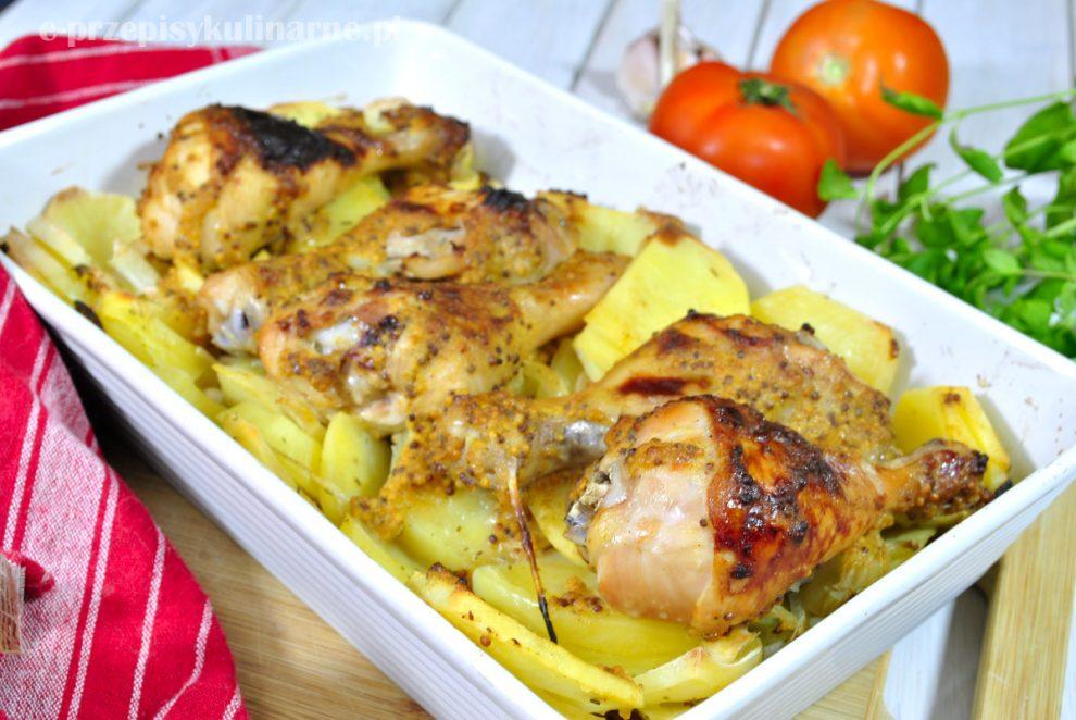 Kurczak w musztardzie pieczony na ziemniakach