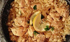 Moje cytrynowe risotto z kurczakiem