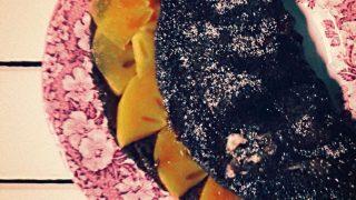 Omlet z kakao, imbirem i kaki