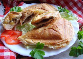 Chrupiące tosty z pieczarkami i serem