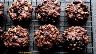 Czekoladowe ciasteczka owsiane - fit, pyszne