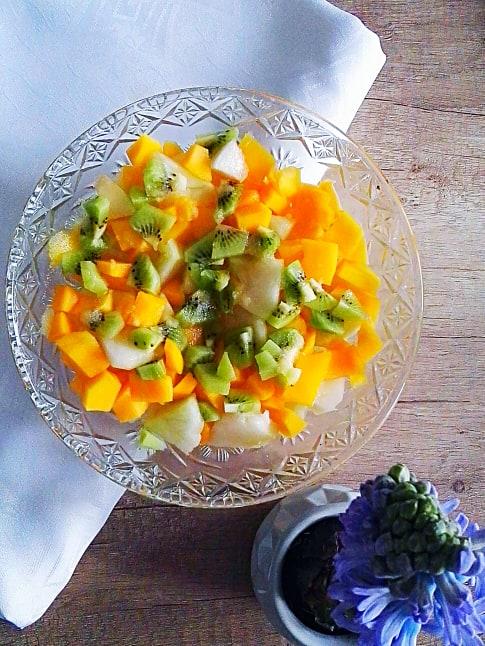 Pijana bzem sałatka owocowa