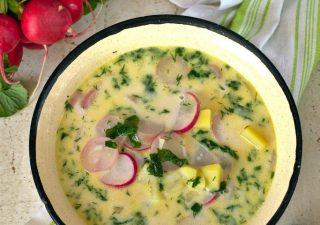 Wiosenna zupa z rzodkiewek