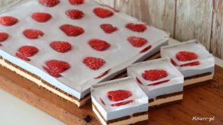 Malinka - ciasto bez pieczenia
