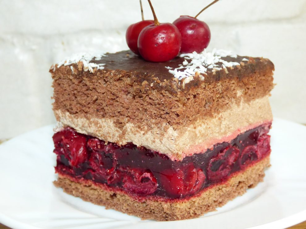 Ciasto czekoladowo wiśniowe