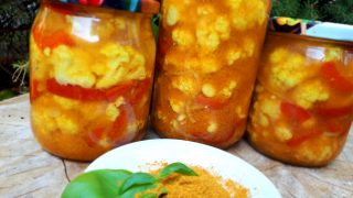 Kalafior w zalewie curry