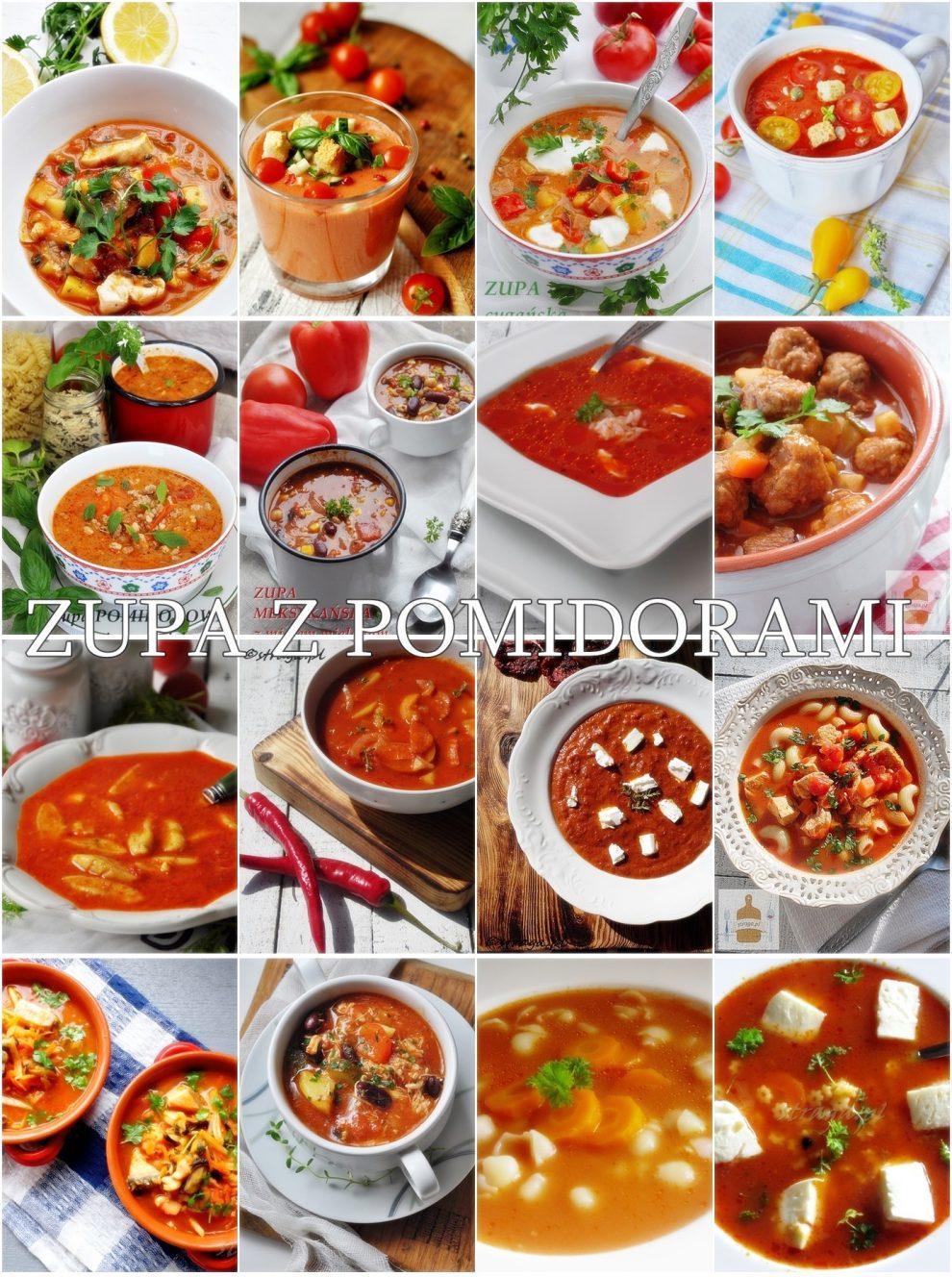 Zupa z pomidorów na różne sposoby