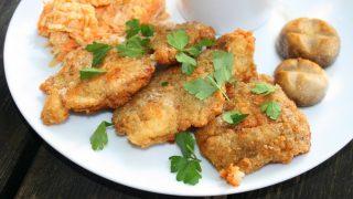 Ryba panierowana w majonezie , pyszny obiad