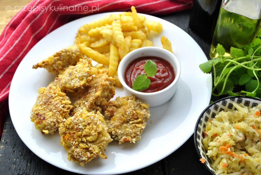 Pieczone nuggetsy z kurczaka – odchudzony przepis