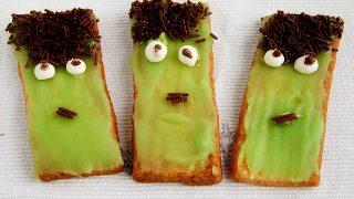 Frankenstein cookies - ciasteczka na halloween