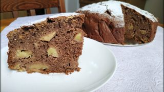 Ciasto Murzynek z jabłkami