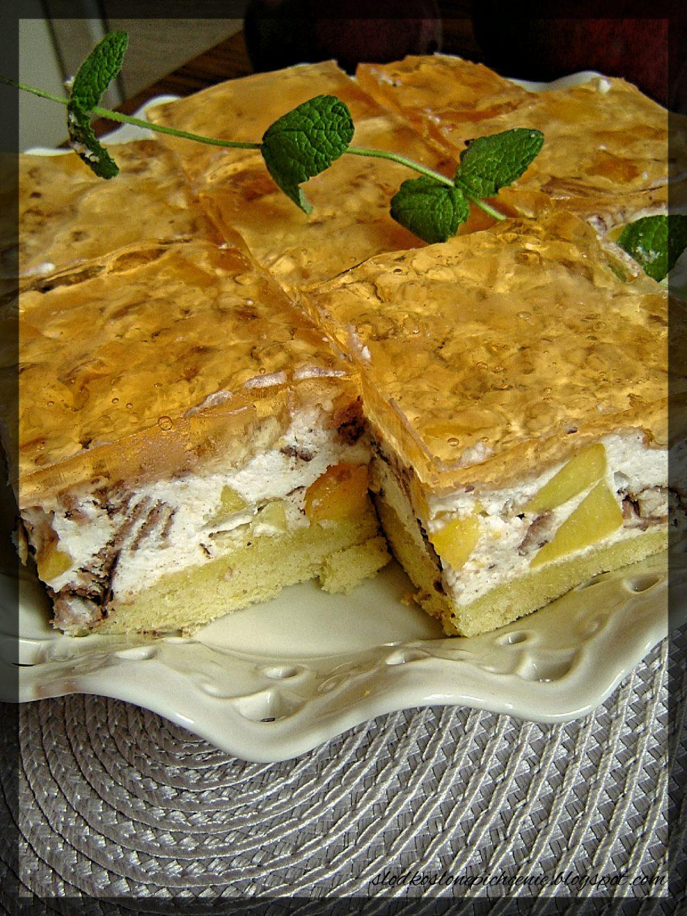 Ciasto Prince Polo z brzoskwiniami