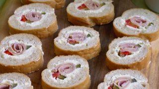 Mini kanapeczki z bagietki