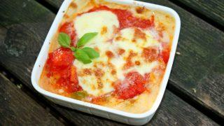 Włoska zapiekanka z mozzarellą