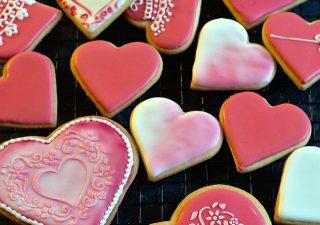 Kruche ciasteczka - serduszka na Walentynki