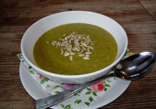 Zupa krem z cukinii i pora