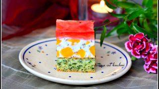 Szpinakowy biszkopt z jogurtem i owocami