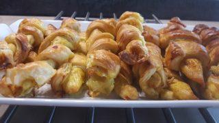 Paluchy z kurczaka w cieście francuskim