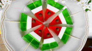 Arbuz z galaretki – deser dla dzieci