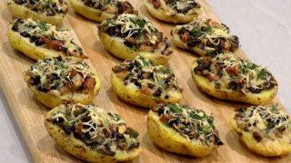 Pieczone czosnkowe ziemniaki
