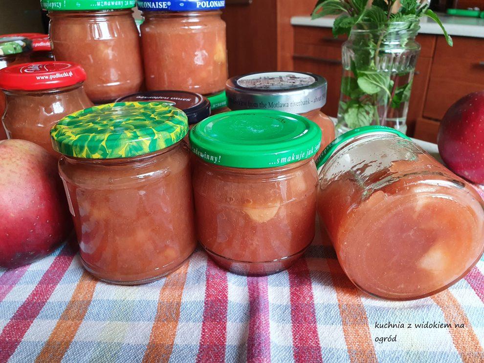 Marmolada z jabłek bez mieszania. Domowe przetwory.