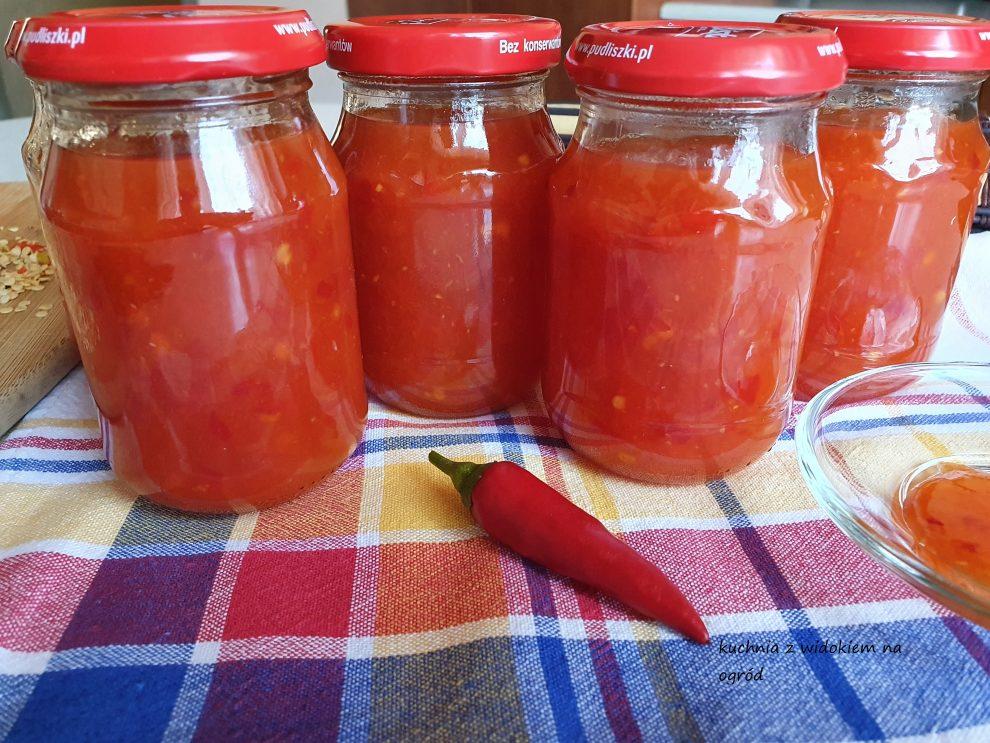 Domowy sos chili słodko - pikantny na zimę