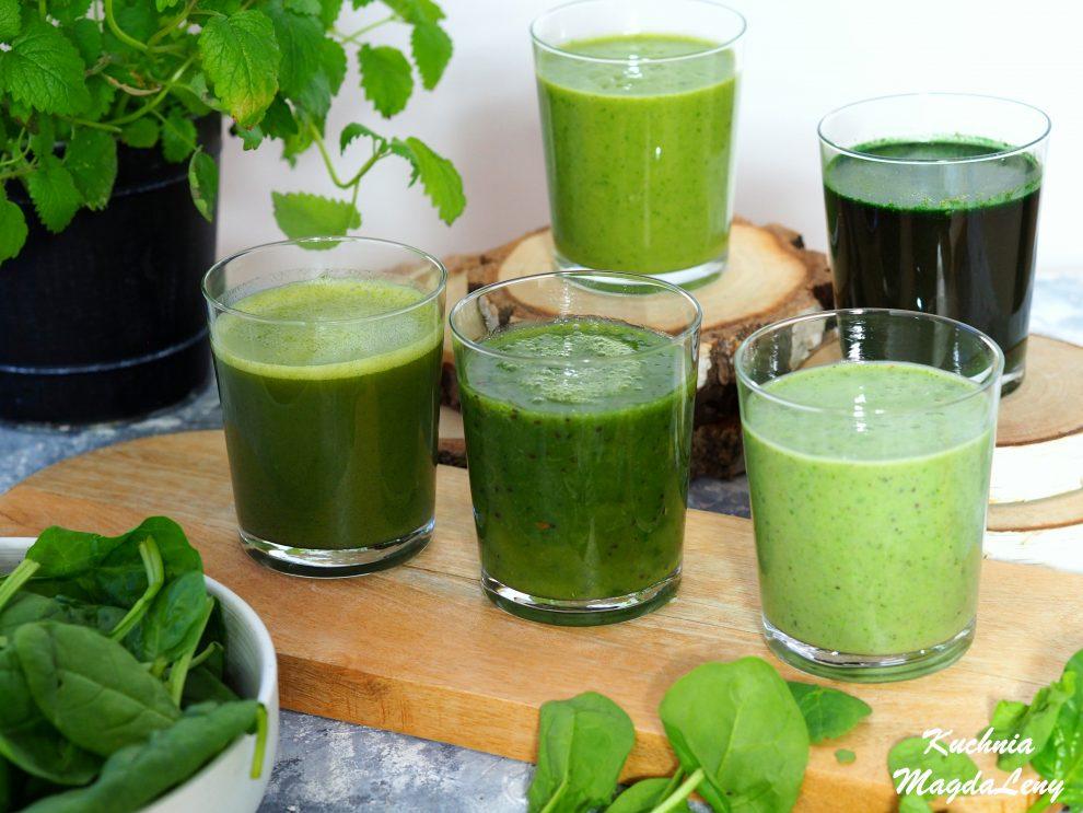 Naturalne zielone koktajle