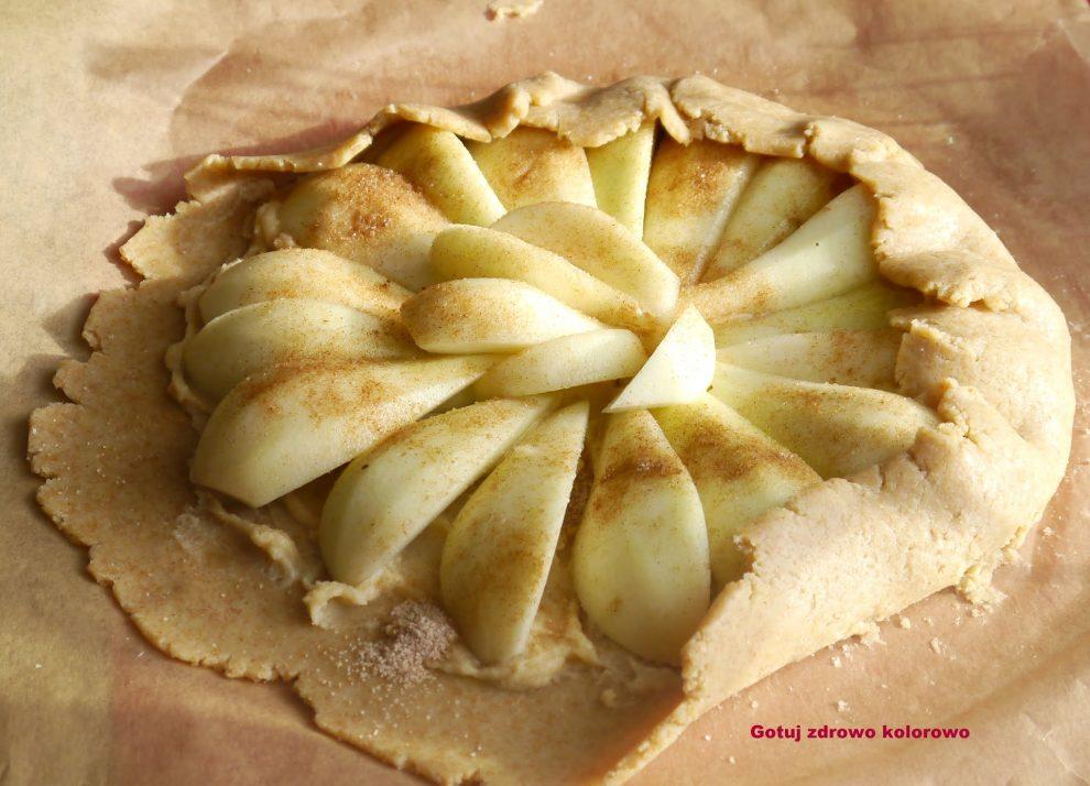 Rustykalna tarta z jabłkami i marcepanem