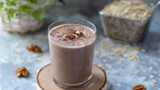 Koktajl owsiany czekoladowo-orzechowy
