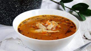 zupa z kurczaka a`la flaczki