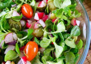 Sałatka z brukselką, pomidorami i rzodkiewkami – do obiadu lub na grilla