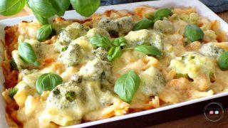 Zapiekanka z brokułami i mięsem mielonym