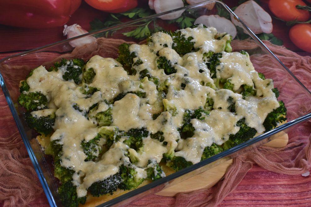 Zapiekana ryba z brokułem