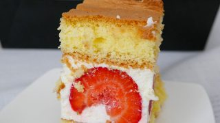 Ciasto z Truskawkami i Masą Śmietanową