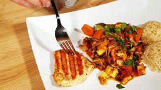Obiad w pół godziny – leczo z grillowanym kurczakiem