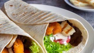 Tortilla z paluszkami rybnymi