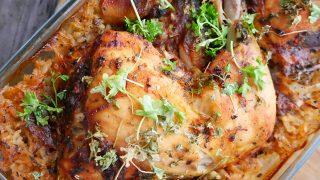 Udka z kurczaka zapiekane z ryżem