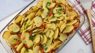 Zapiekane ziemniaki z mięsem mielonym